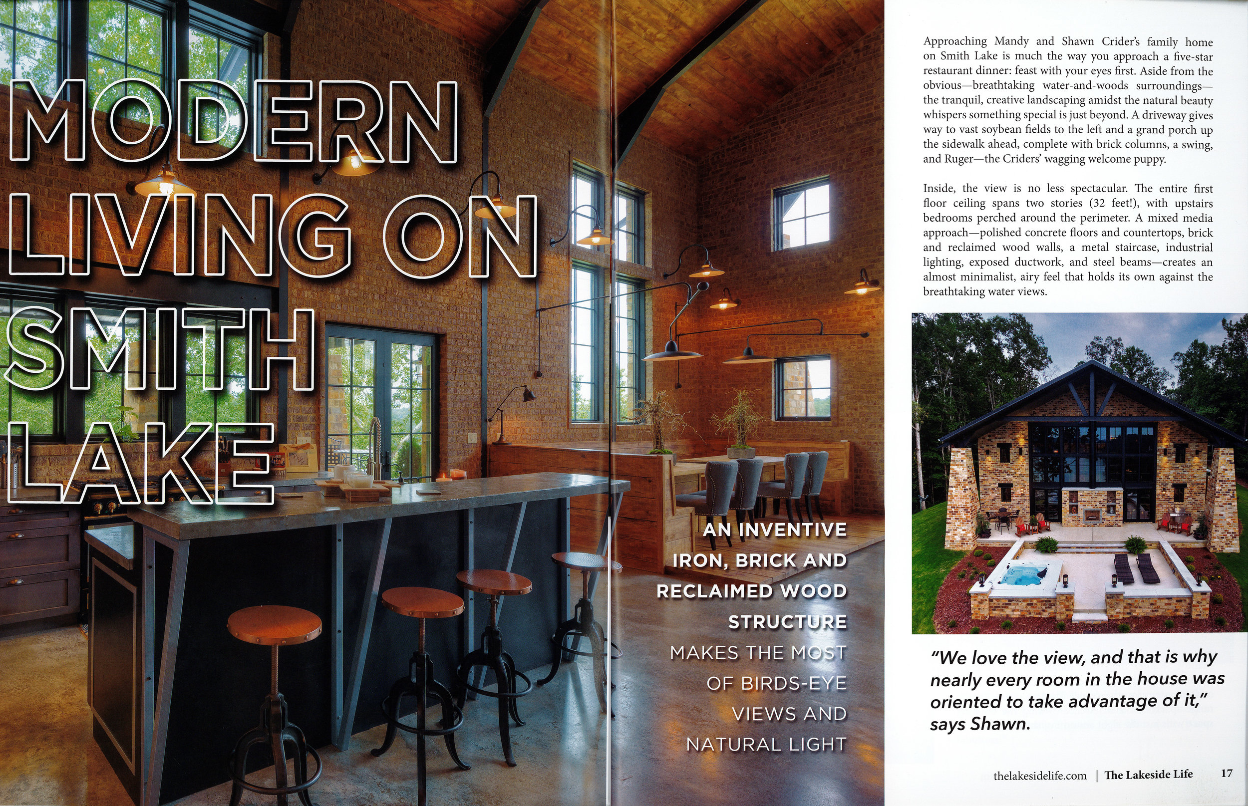 Page 1 of Crider Lake House #architecture #interiors