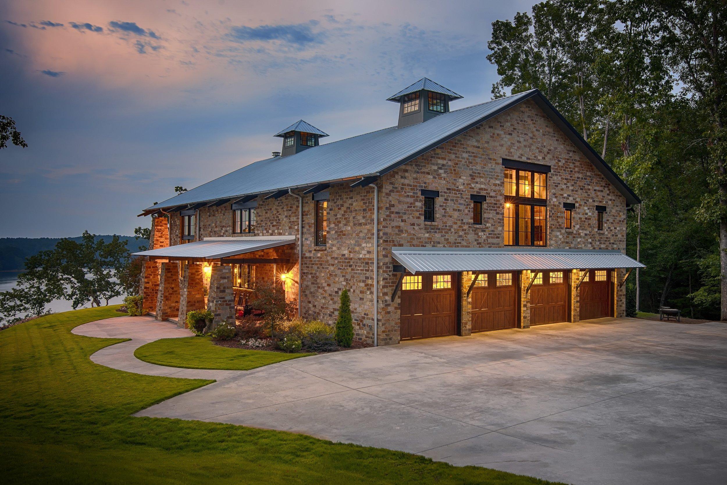 Crider Lake House at twilight magazine highlight architecture Alabama