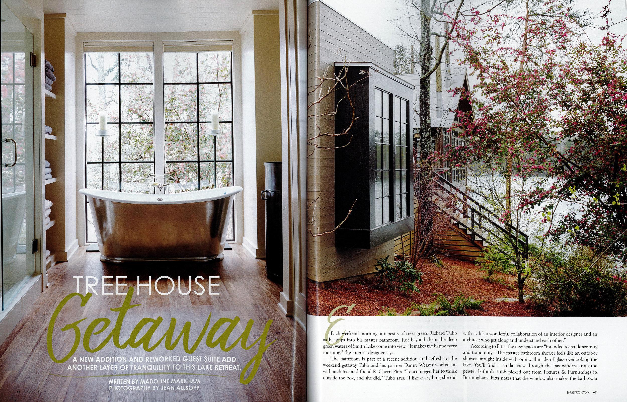 B-metro magazine 2016 7 sticks lake house page 1 architecture exterior and interior design Alabama