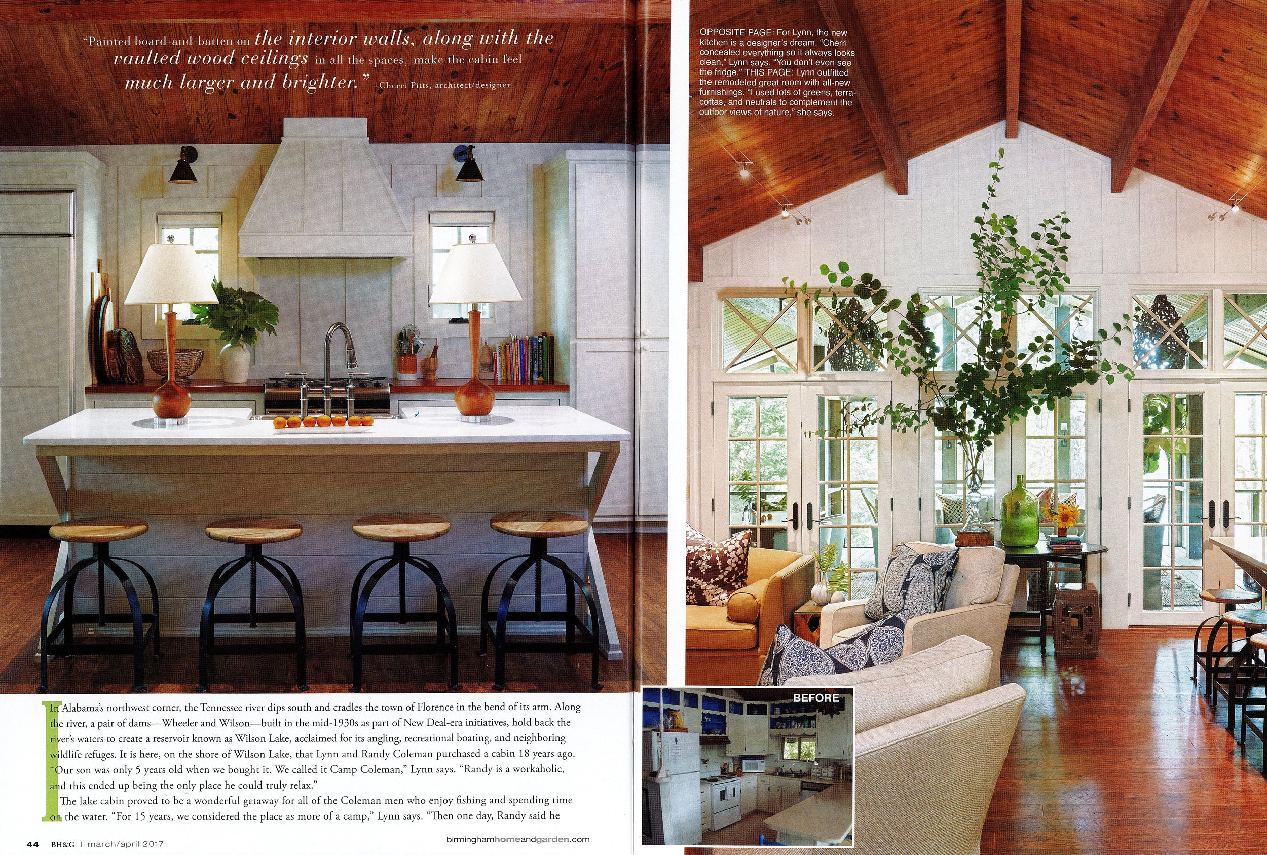 Birmingham Home & Garden 2017 magazine Camp Coleman page 3 architecture exterior and interior design Alabama