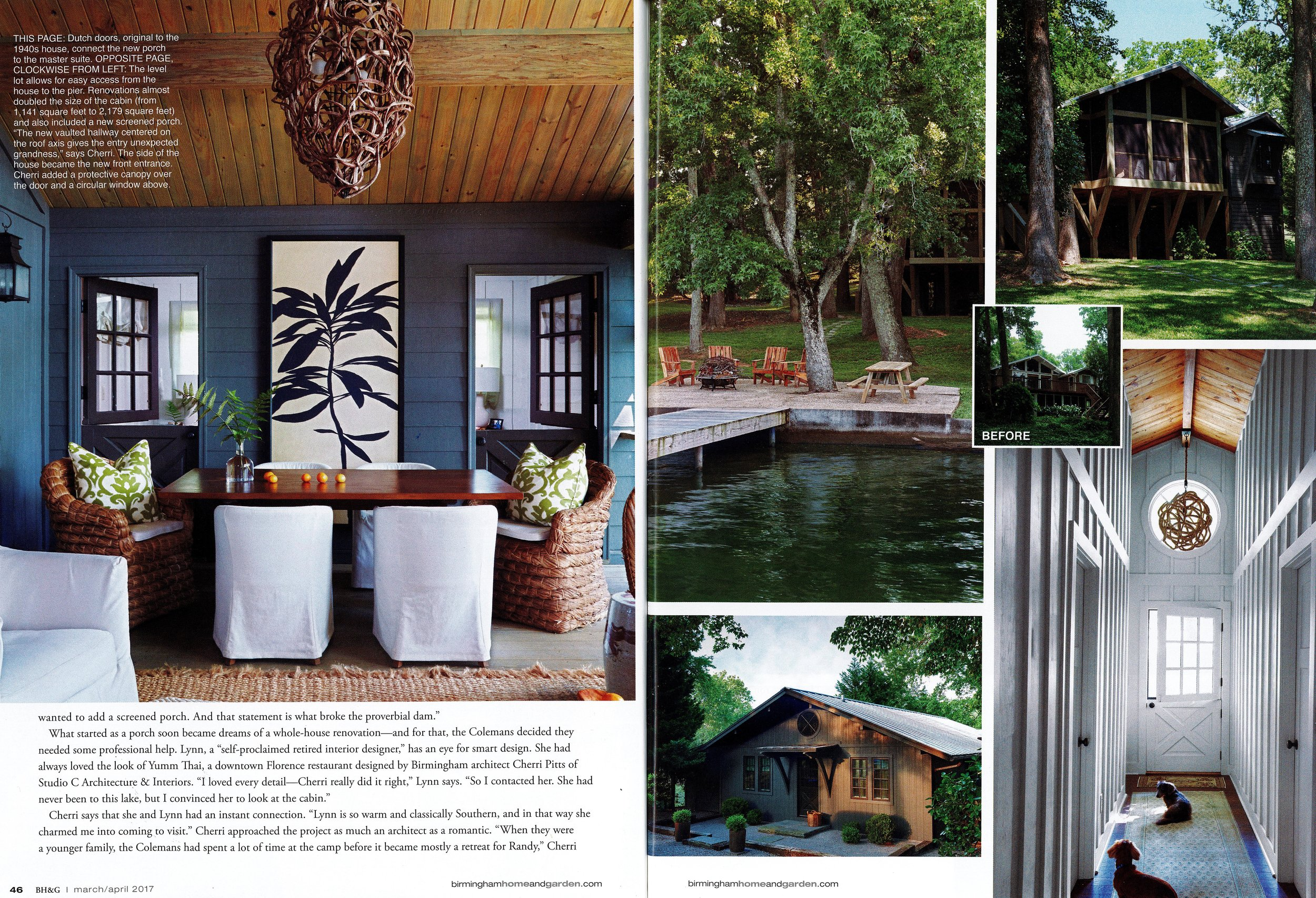 Birmingham Home & Garden magazine 2017 Camp Coleman page 4 architecture exterior and interior design Alabama