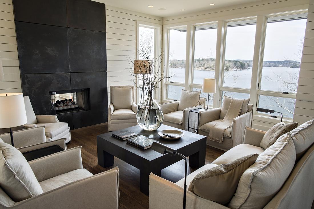 Lake Living Interior living room design architecture Alabama