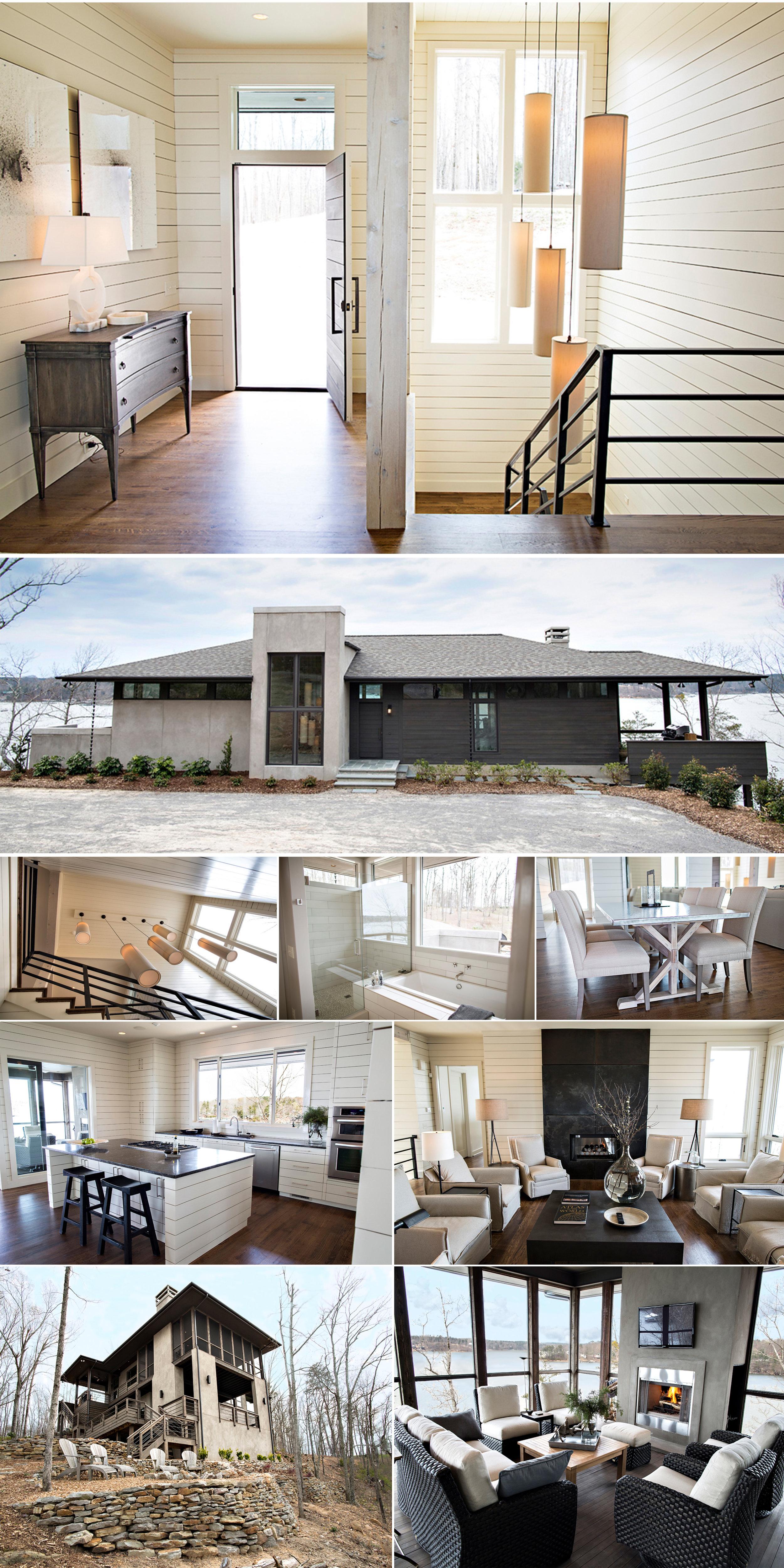 Lake Living collage exterior and interior design architecture Alabama