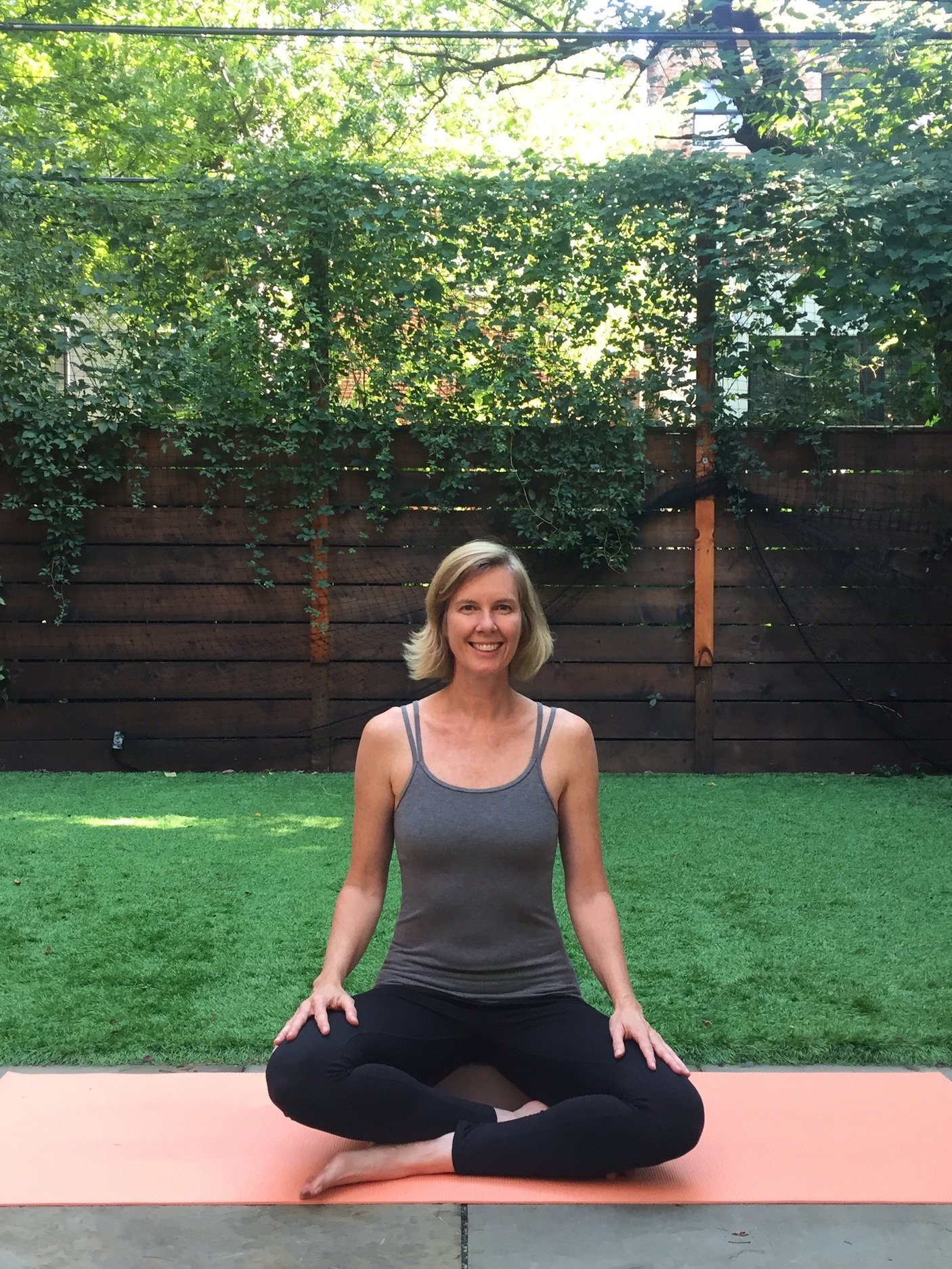 """Laura - """"I am a very self-motivated, organized person so I didn't think I needed any help to set up my private yoga business. I was totally surprised at how meaningful and important Emily Sussell's Abundant Yogi Mentoring and Mastermind group has been to me. Emily's guidance and guidelines have helped me so much. I've booked four new clients since I started participating. Emily helped me to be aware of any ways I might be selling myself short or limiting my thinking. As well, sharing this moment in my development with the twelve other people in the group and hearing about their experiences is generating much positive, supportive energy—so much better than going it alone"""". - Laura Teusink - Featured in Forbes!"""