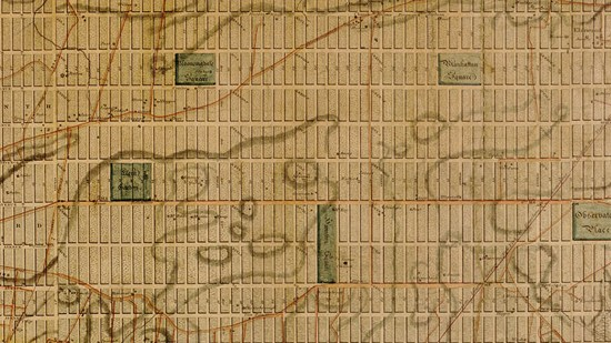 William Bridges map, 1811, detail.Map of the city of New York and island of Manhattan.Courtesy of the Library of Congress
