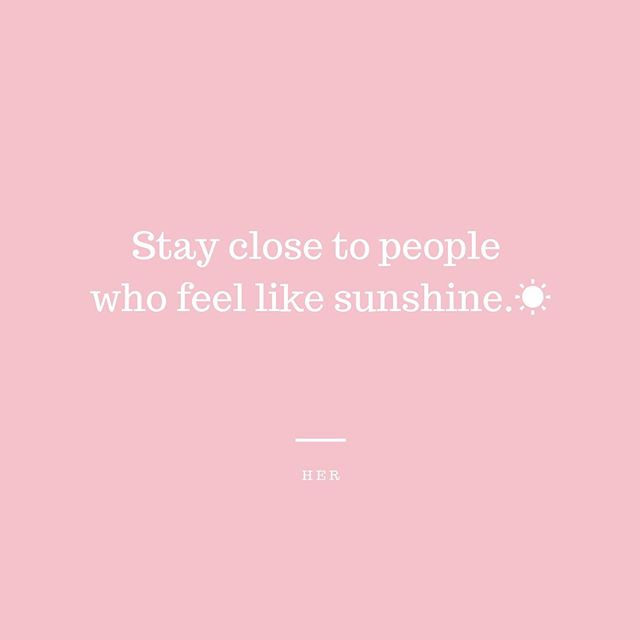 ... and only sunshine ☀️