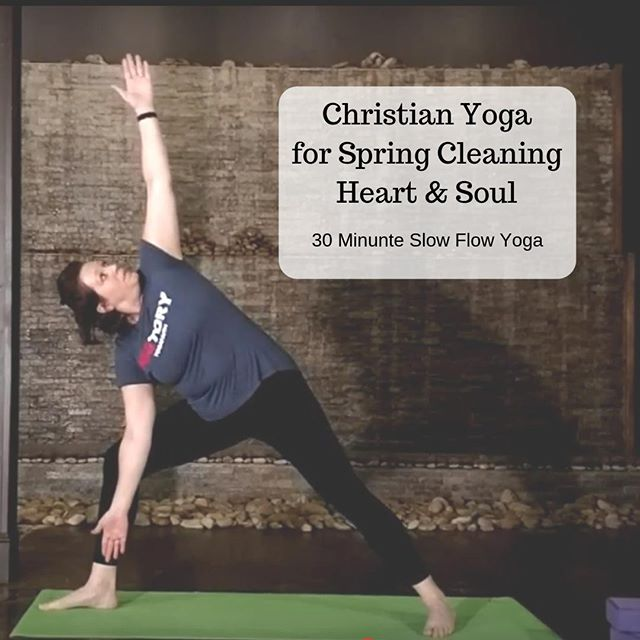 Have you started spring cleaning? Me neither... I don't do much spring cleaning. 😛⠀ ⠀ BUT...sometimes we DO need to take some time to cleanse our heart, soul, and mind with Christ! When we do, we have more SPACE for HIM to fill! ⠀ ⠀ That's what the newest FREE yoga class is all about...(find heart soul and mind yoga on YouTube or link in bio.) 😉⠀ ⠀ I invite you to take 30 minutes today for a little internal spring cleaning and then be refreshed! Scriptures for focus in this class are: ⠀ * Isaiah 1:18⠀ * Psalm 139:23⠀ * Psalm 51⠀ ⠀ Let me know how you like this class by sharing in comments below!⠀ ▪️ ▪️ ▪️⠀ #gospelpreacheryogateacher #jesusfocusedyoga #jesusfirstyogasecond #yogafaith #christianyoga #yogaforthesoul #yogaonyoutube #yogaanytime #worshipinmovement #springcleanyoursoul #springcleaning #makespacefornewthings