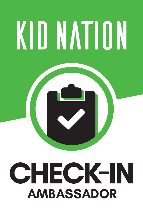 Welcome families to Kid Nation and check them in.