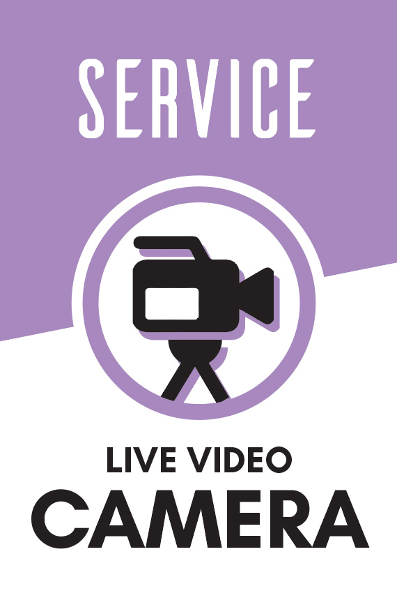 Operate the Live Feed camera and record the sermon.