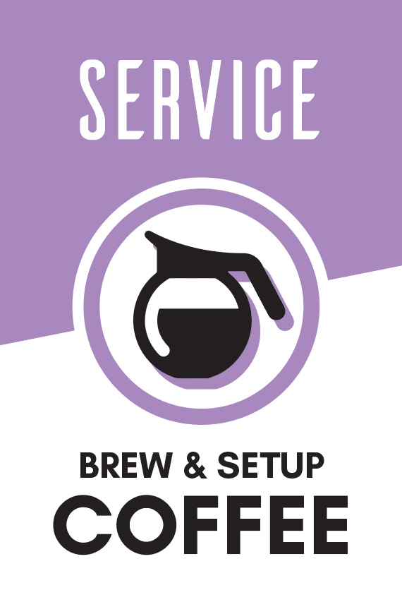 Prepare coffee for service and help clean up after.