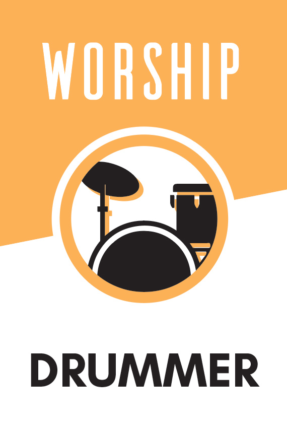 Play drums as part of our weekend worship sets.