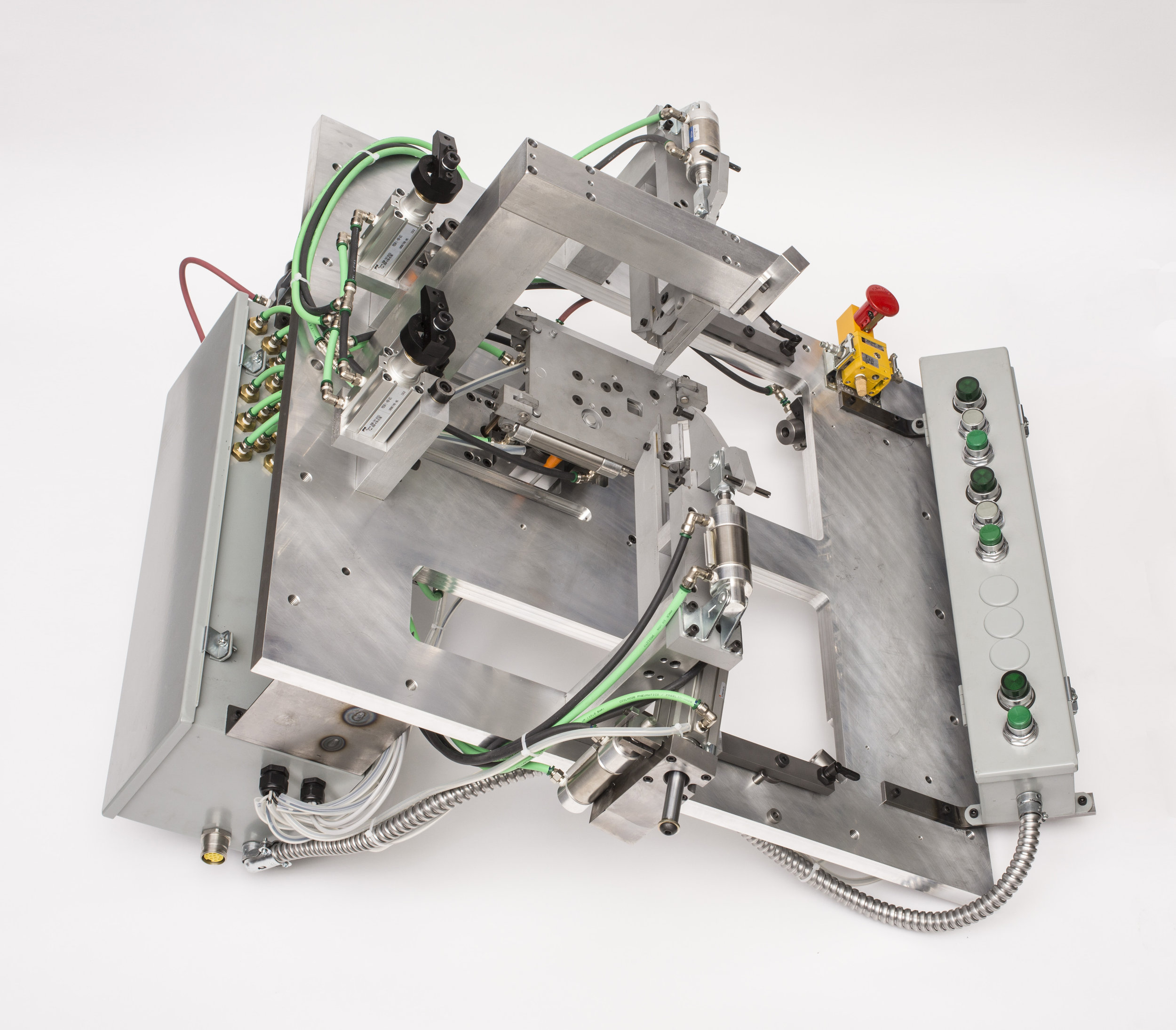 Robotic Welding Fixtures - When designing a robot weld fixture we adhere to a rigorous analytic process. Adequate torch clearance, accurate joint repeatability, robot reach and access, and material suitability are a few of the many parameters we review.Have a specific issue or design requirement? We have a custom solution.