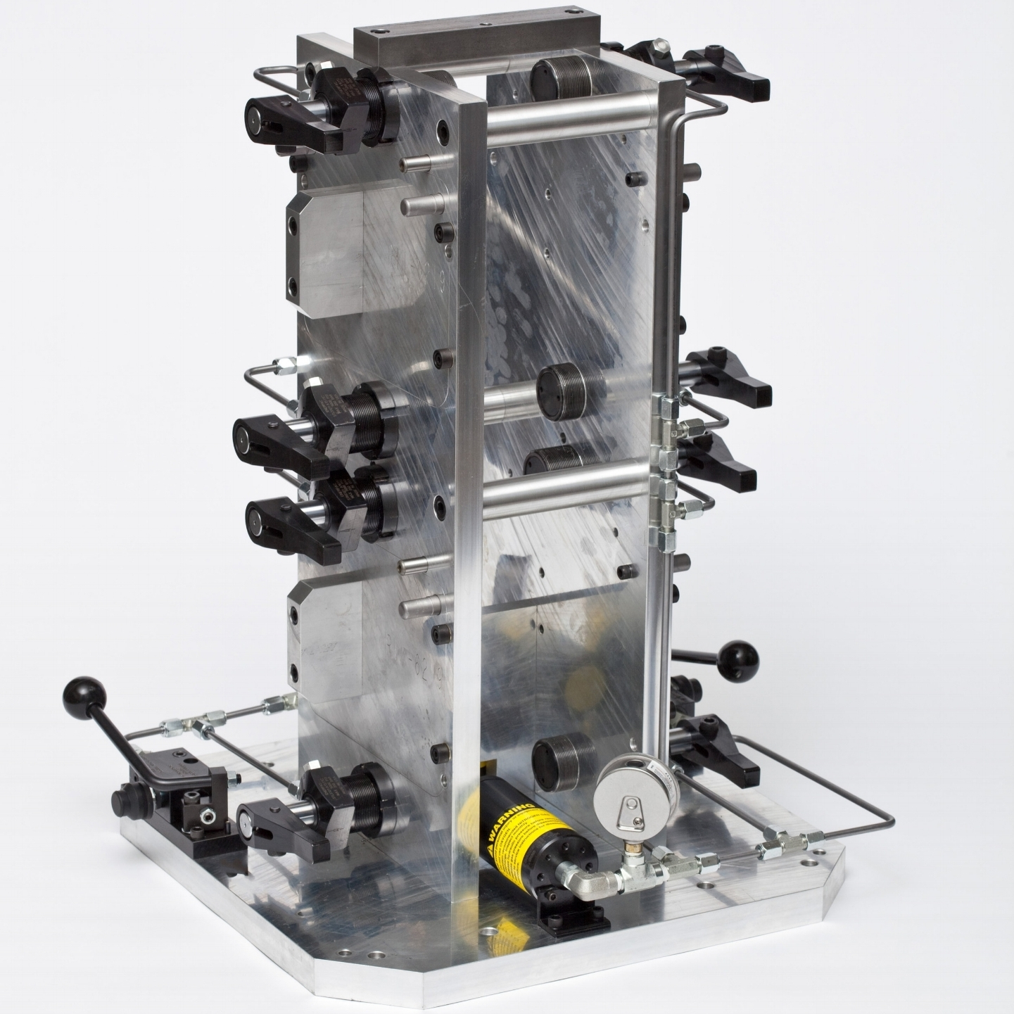 Machining Fixtures - Machining fixtures are required for most large parts or when the parts are not suitable for vise clamping. Our long part run fixtures use hydraulic or pneumatic clamping to increase throughput, decrease operator fatigue, and improve clamp load repeatability. We strive to ensure your machined parts will comply with the required specifications.