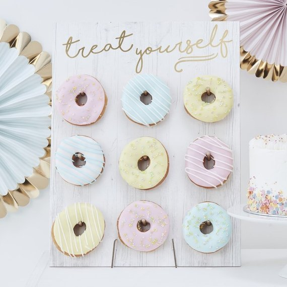dozen donuts + donut wall     $24