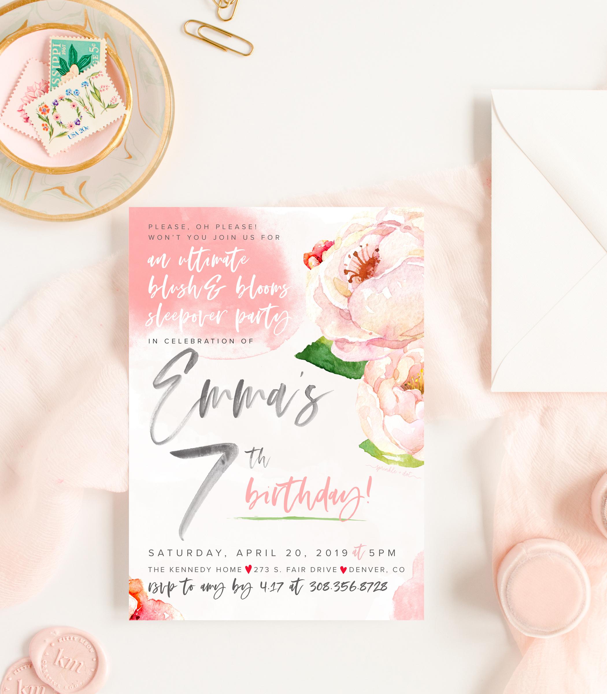 custom printed invitations  |  $50