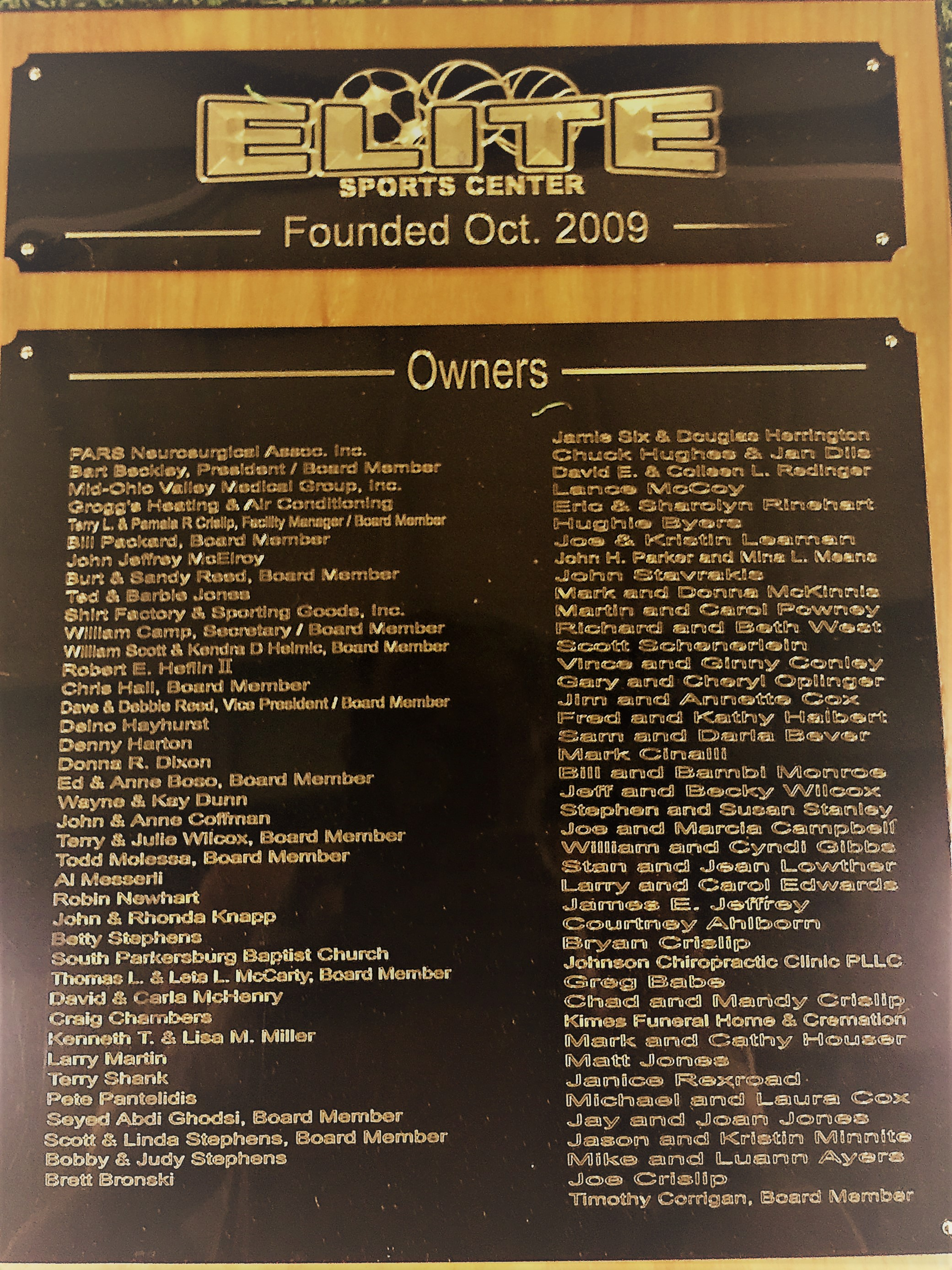 Elite Owners Plaque.JPG