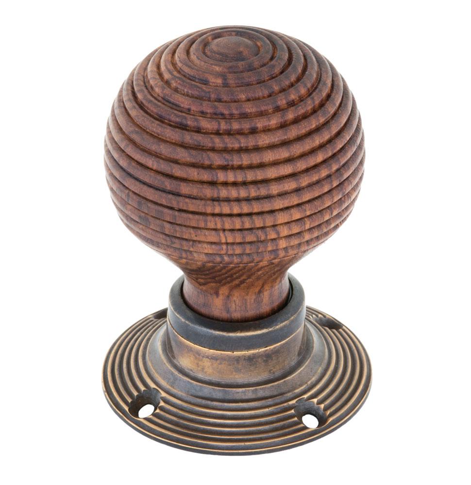 Round wooden door knob
