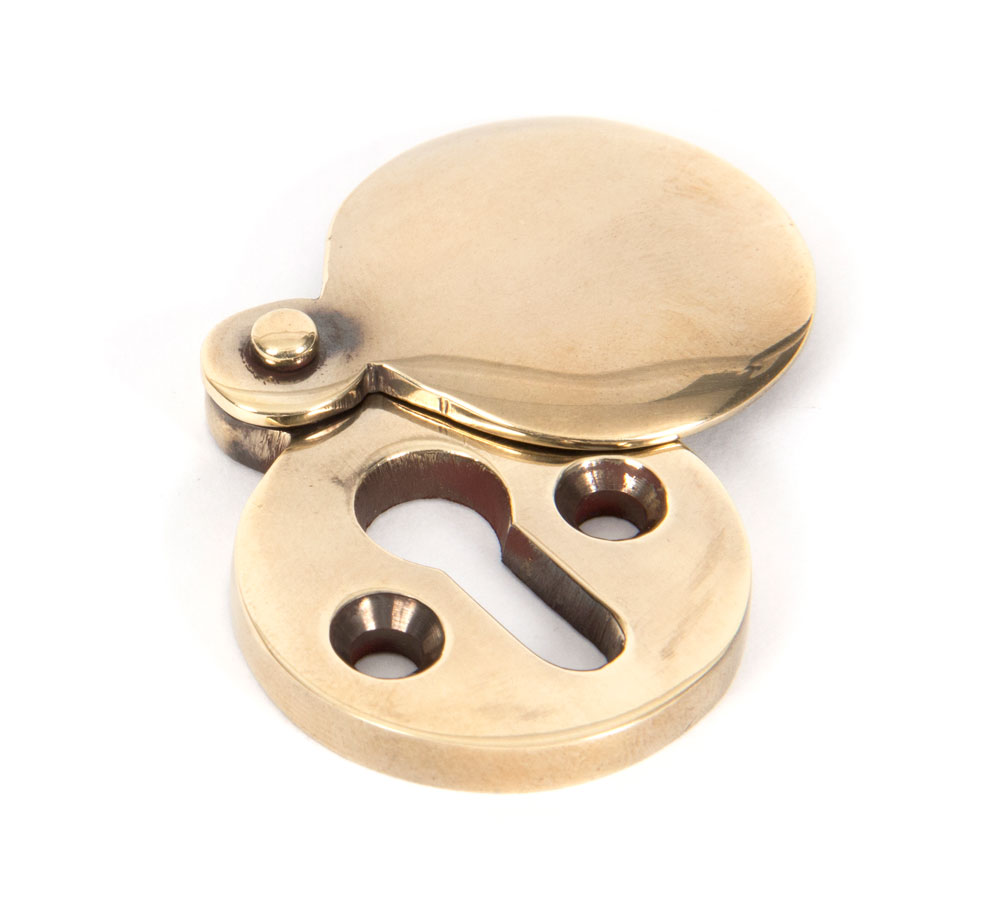 Brass key plate with cover