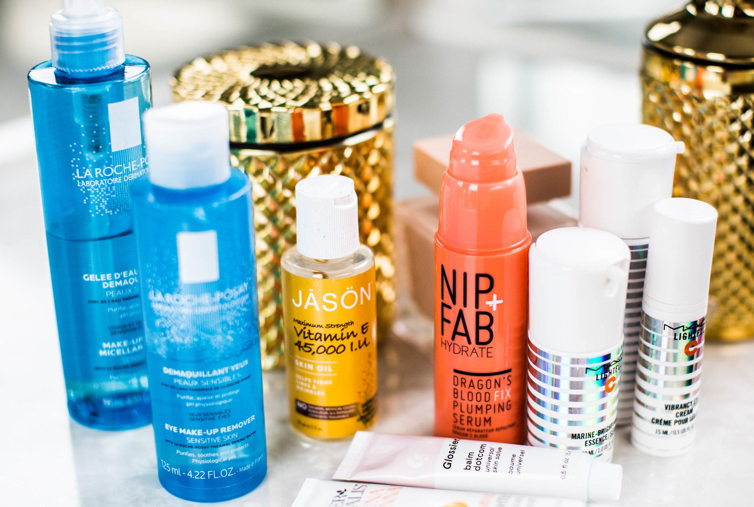 Skin care lines include Obagi, Skinmedica, Skinceuticals, Neocutis, Murad, Olay Regenerist