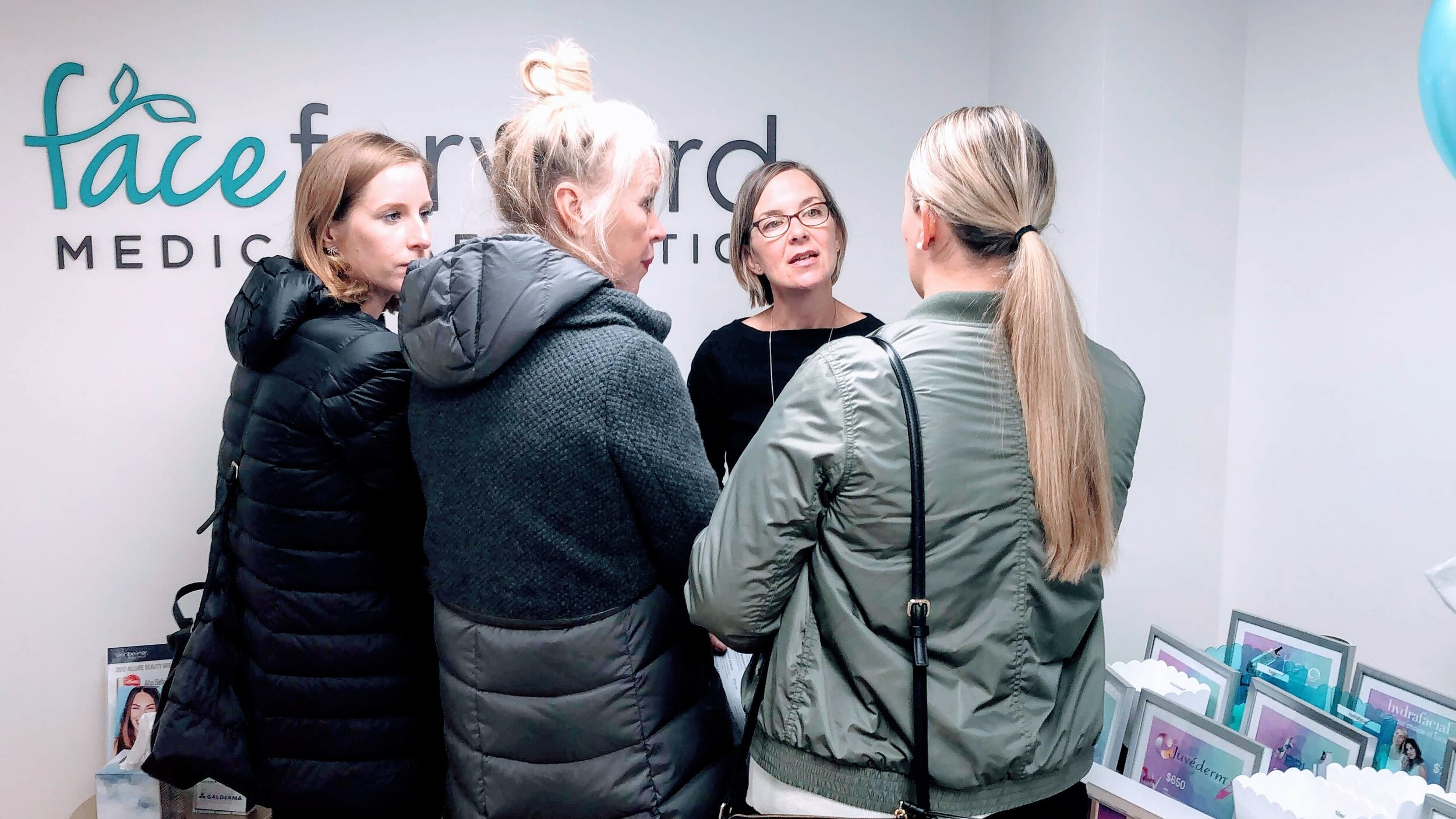 One of many 'mini-consultations' with Amy, our Medical Aesthetician.