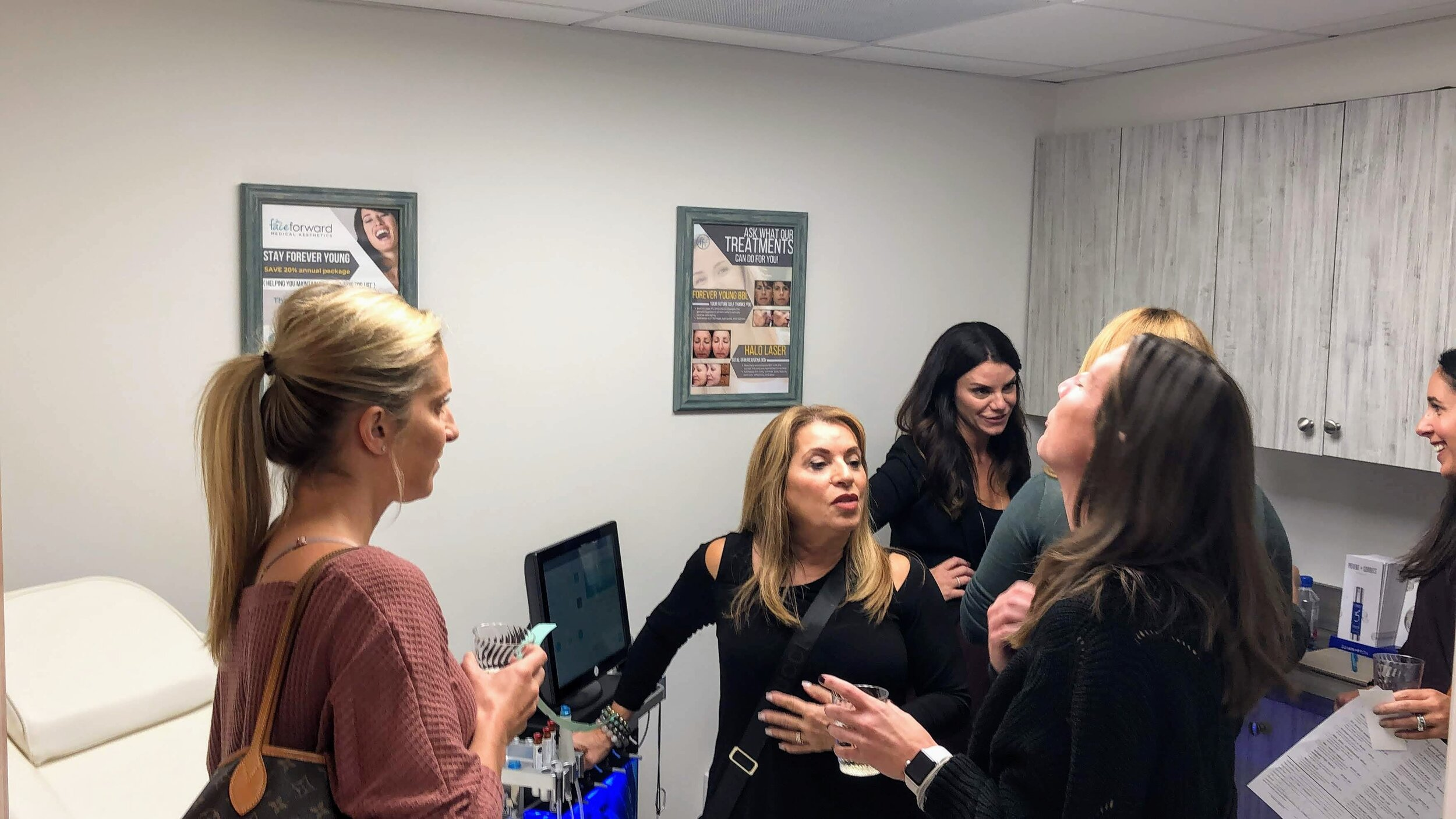 Interested clients learned all about Hydrafacial from Stephanie Viking.