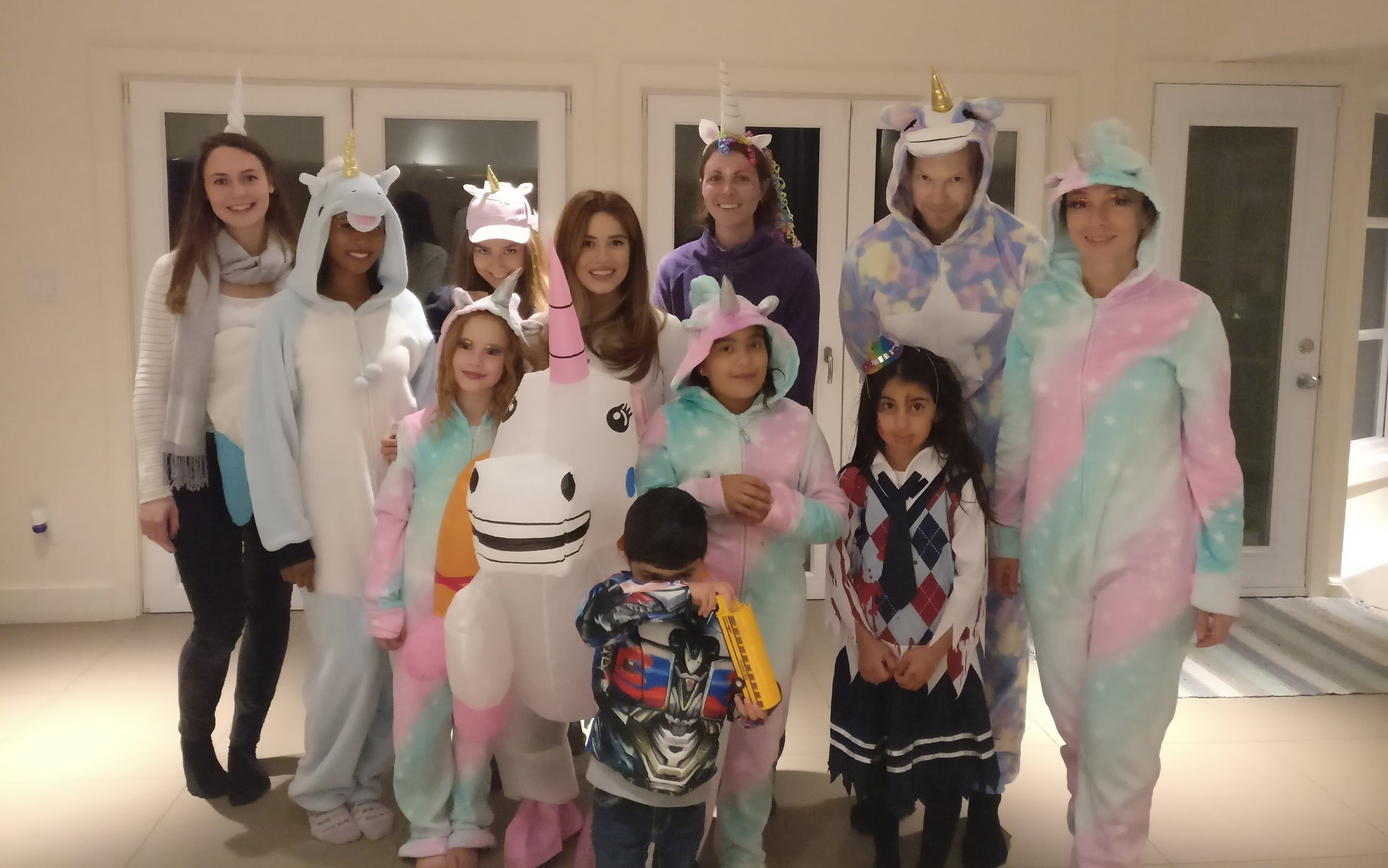 Unicorn theme Halloween party! Who wore it best?