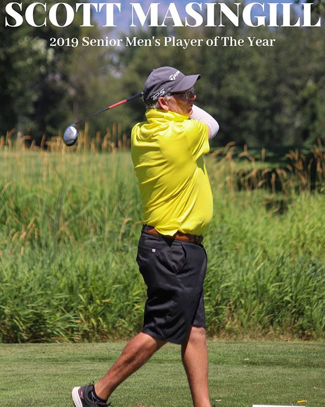 Please join us in congratulating SCOTT MASINGILL for being named the 2019 SENIOR MEN'S PLAYER OF THE YEAR🏆 Scott's 2019 accomplishments include being the Senior Men's Tournament of Champions Champion, Southwest Idaho Amateur Champion, T-2nd Place at the Canyon Springs Amateur, PNGA Super Senior Amateur Championship 3rd Place, and 7th place at the Idaho Senior Amateur Championship. Congratulations @scottmasingill 🎉
