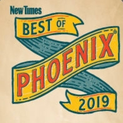 Phoenix New Times, Best of Phoenix, 2019 Nominee - Best Authentic Arizona Restaurant AND Best place to take a foodie.  Phoenix New Times, Best of Phoenix, 2018 winner - Best churro.