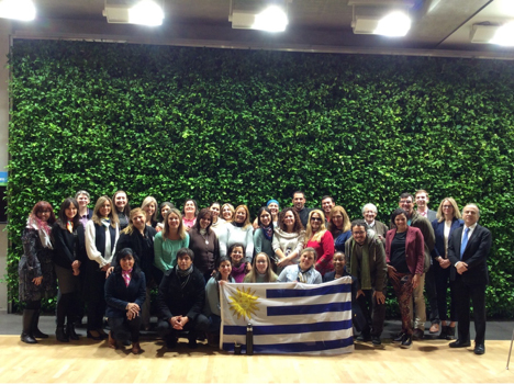 Group photo of Uruguay Fulbright recipients.