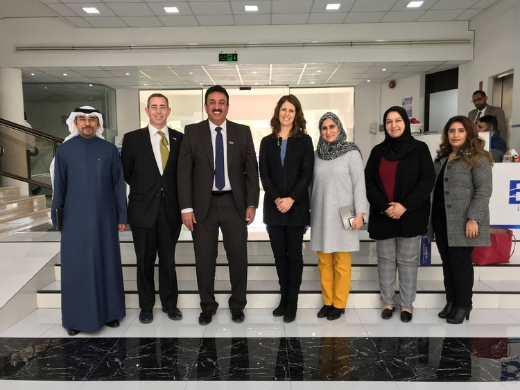 Texas International Education Consortium (TIEC) group photo in Bahrain.