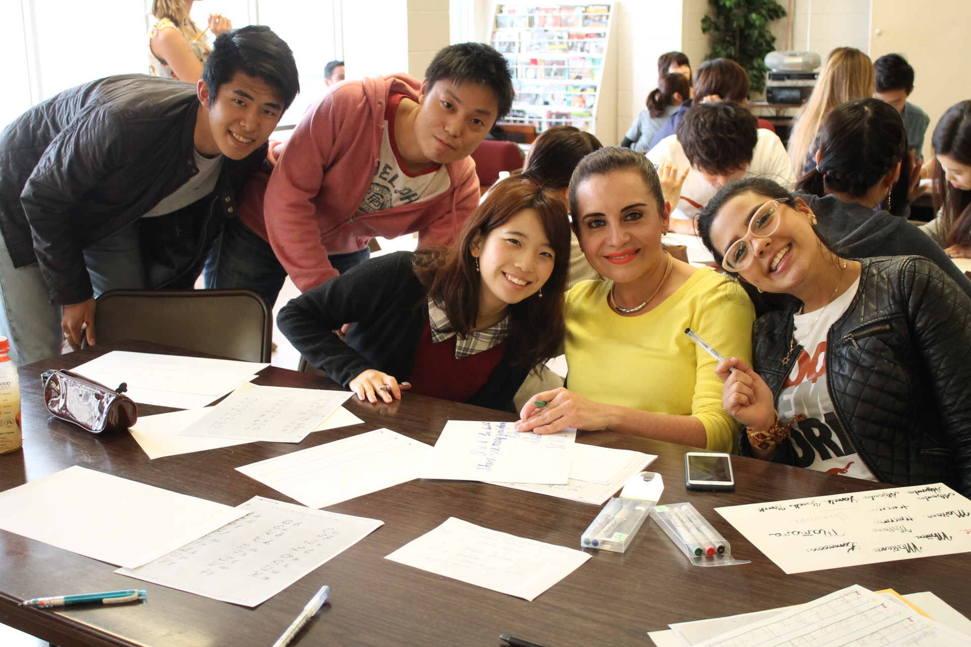 Texas International Education Consortium (TIEC) students having fun working on a class project