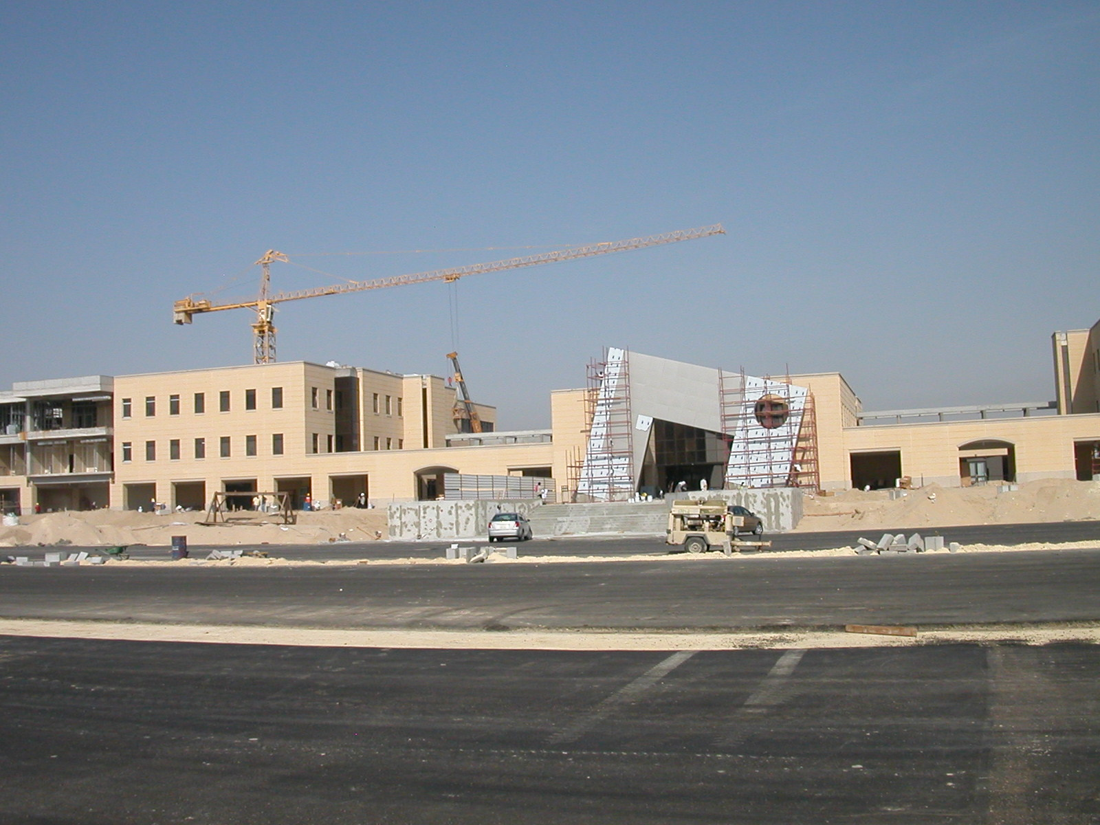 Photo of PMU campus under construction