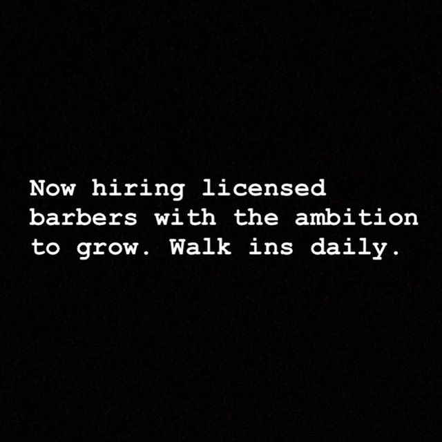 I am looking for a barber who is ambitious and wants to build a clientele in this industry. License Barbers only, please don't waste my time. #NicestBarbers #BarbershopInMiami #MiamiBarbers #MiamiBarber #HaircutsInMiami #CoralGables #Brickell #Miami #Kendall #SouthMiami #Doral #Homestead #Dadeland
