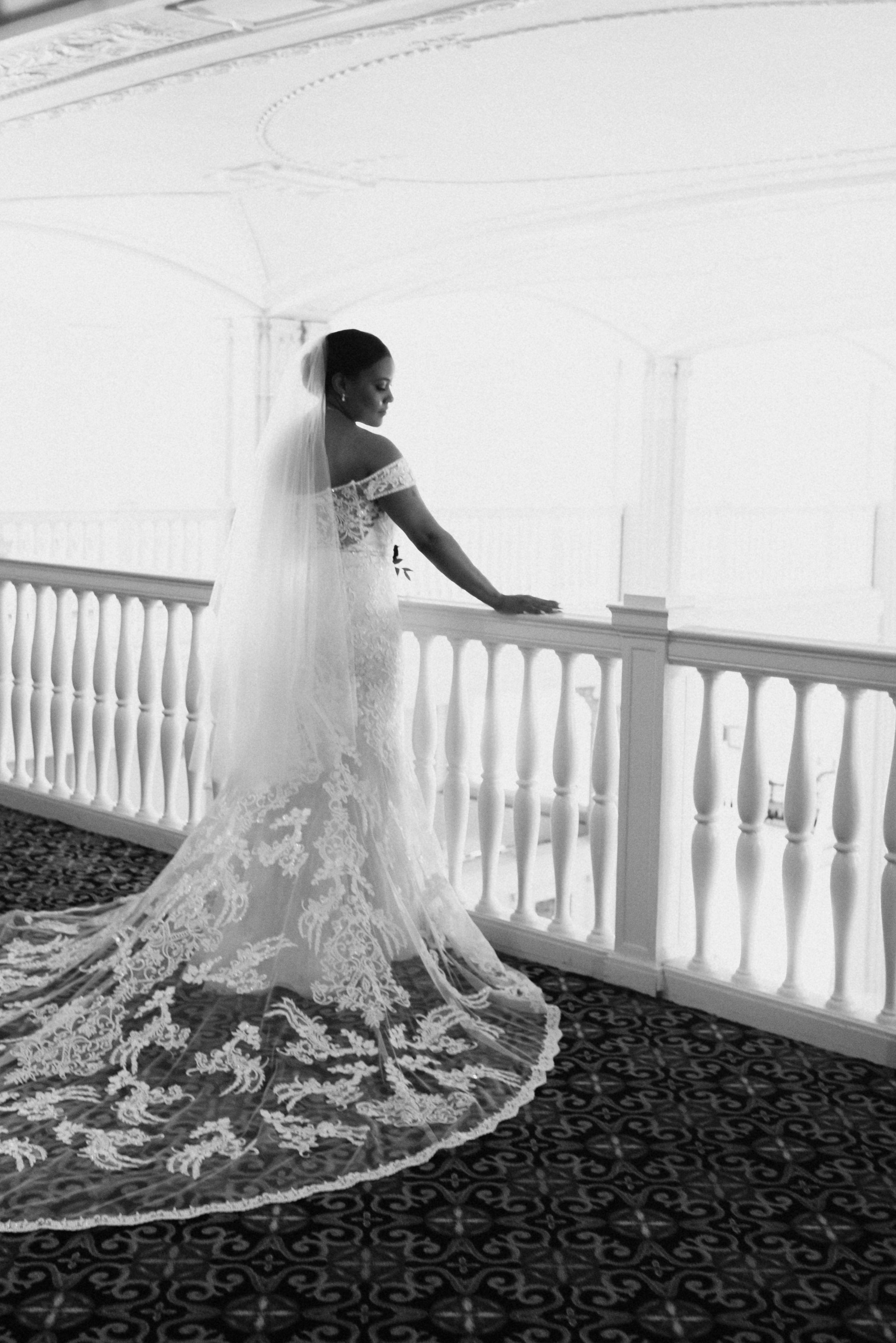 Chicago bride wedding dress