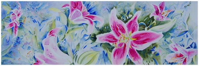 Rubrum Lilies Original     19.25 x 29 - $420