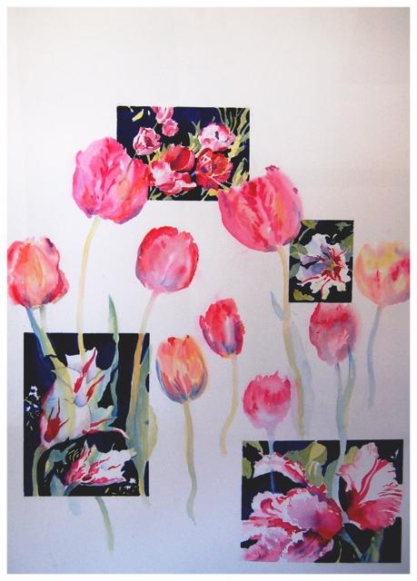 Tulips Arrayed Original     28 x 34 - $850