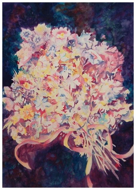 Beribboned Bouquet    Giclée Print     18.5 x 26.75 - $360