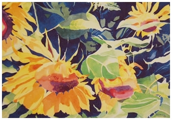 Golden Beauties     Giclée     Print     9.75 x 20.75 - $260