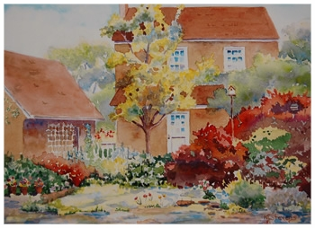 Huffman Cottage    Giclée Print     11.5 x 8.5 - $280