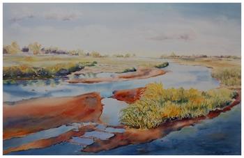 Platte River II    Giclée Print     15.5 x 23.75 - $380