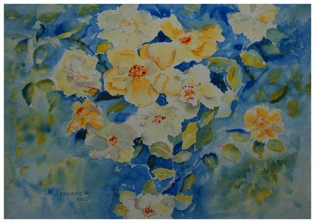 Yellow Roses  Original    7.75 x 10 - $240