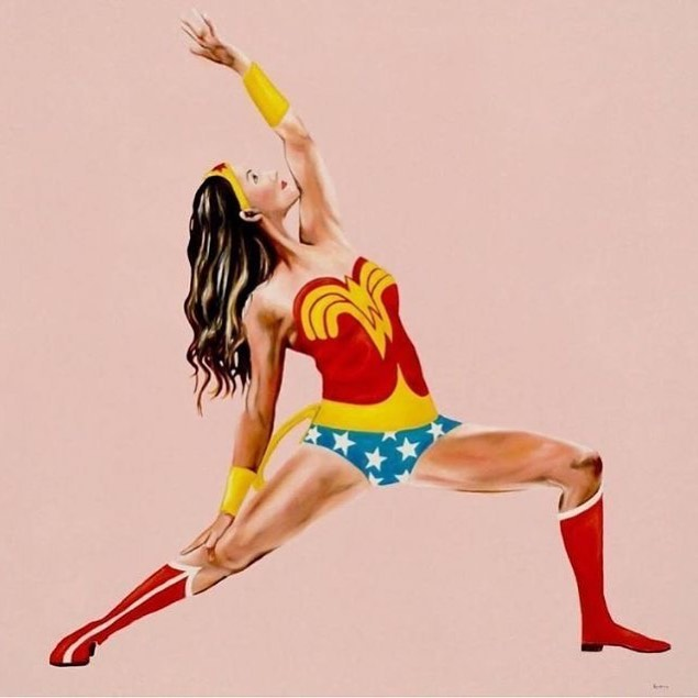 #HappyMothersDay to all you #WonderWomen #reversewarrior #yoga #wonderwoman