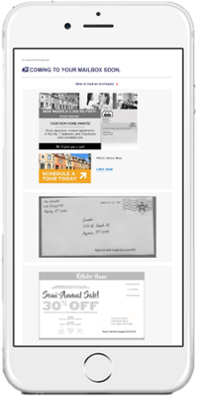 Mobile view of Informed Delivery® email.