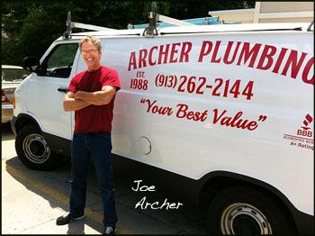 Archer Plumbing    Joe Archer   4811 Lamar, Mission, KS   913-353-4656    joearcherplumbing@gmail.com    www.archerplumbingks.com