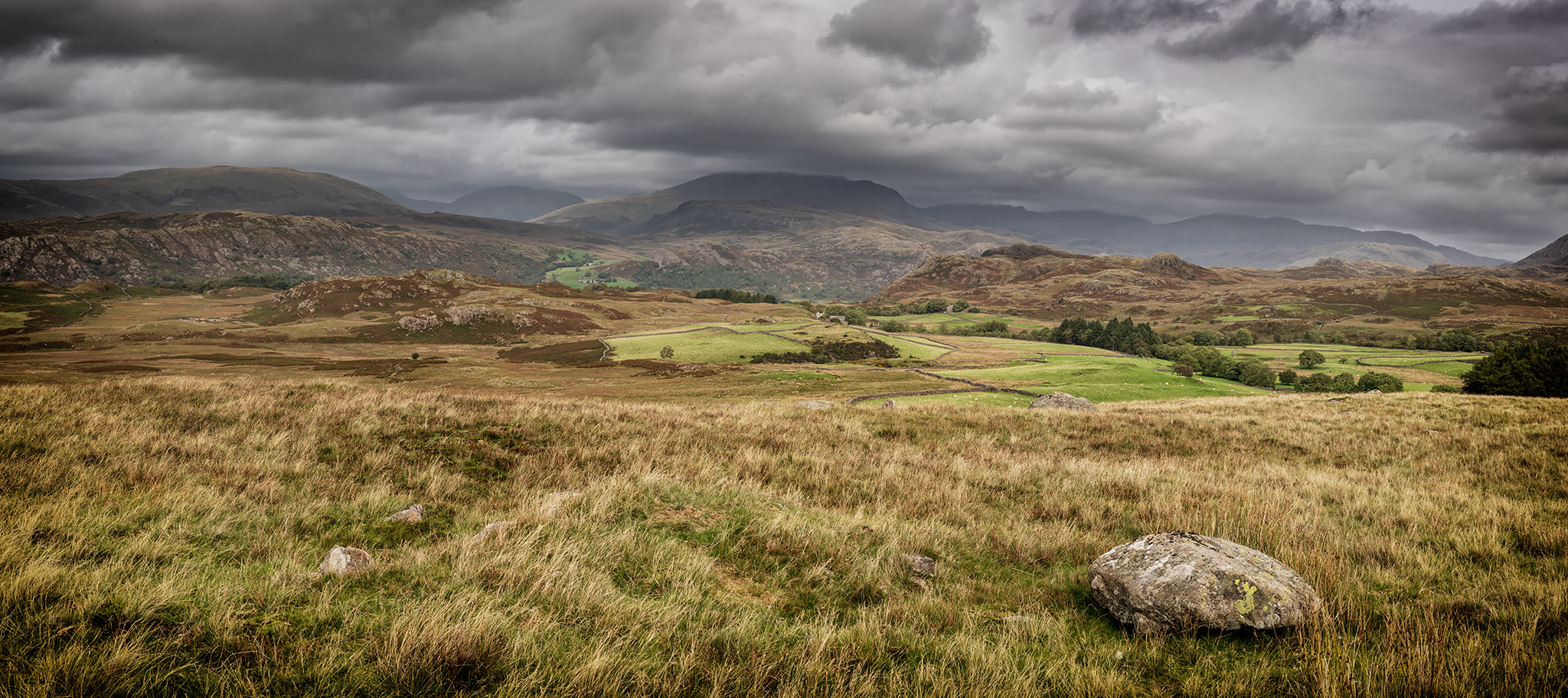 Monday - a panoramic composition from Birker Fell