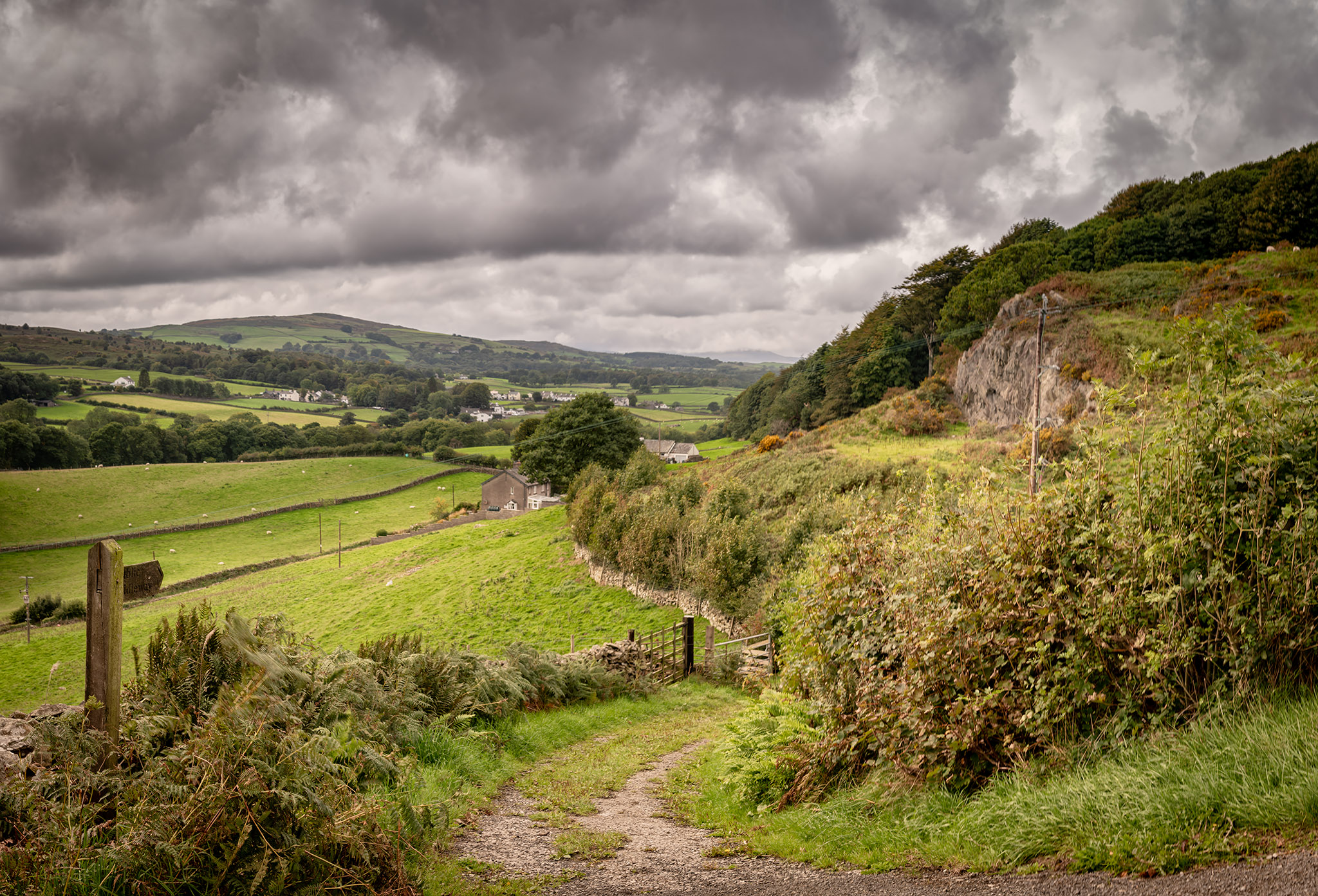 Saturday:  Above the Crake Valley