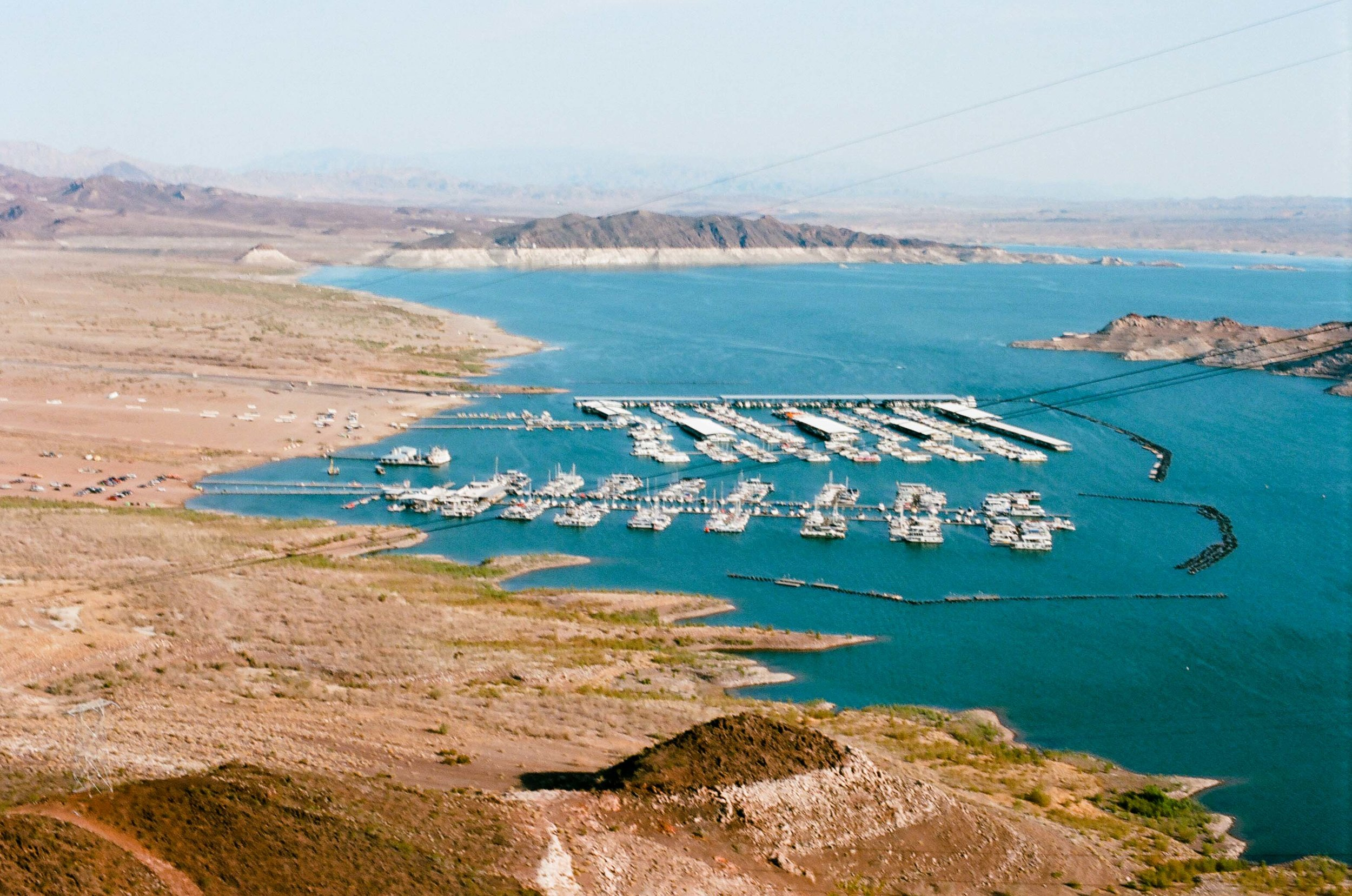The Las Vegas Boat Harbor and Lake Mead Marina which were both relocated from other areas of Lake Mead due to decreasing water levels