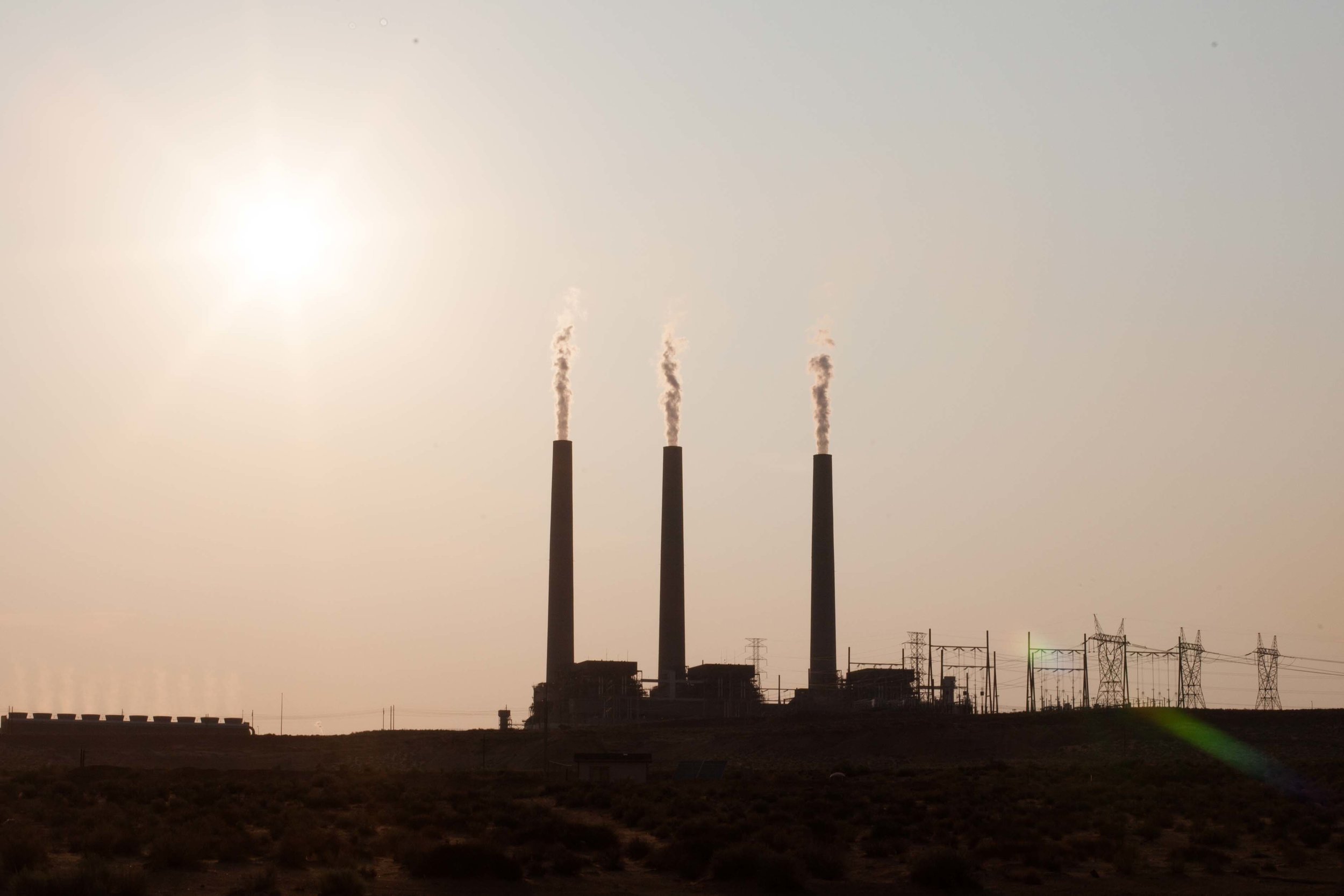 Navajo Generation Station, a power plant built to move water from the Colorado to central Arizona, burns 15 tons of coal every minute, 24 hours a day, every day of the year. It emits the third most carbon pollution of all power plants in the US.