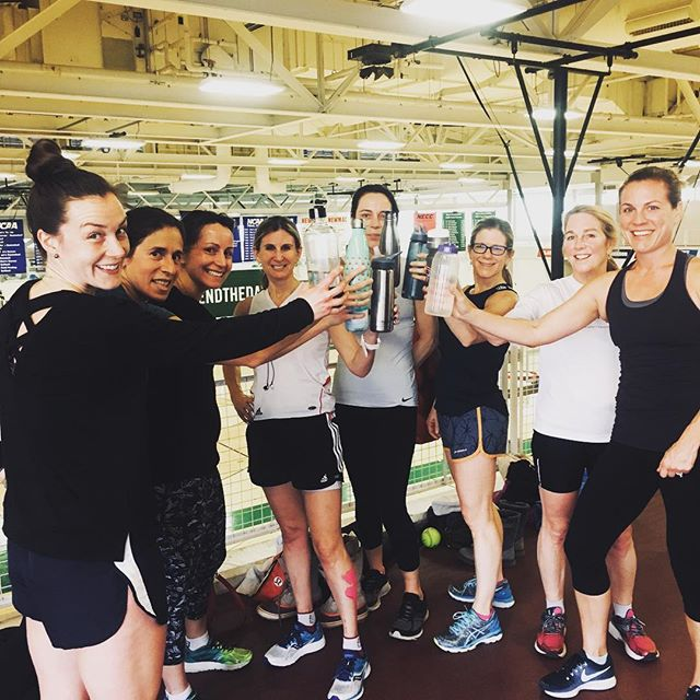 Cheers to a killer workout this am. That was awesome! #fitmamasnewton #fitmamas