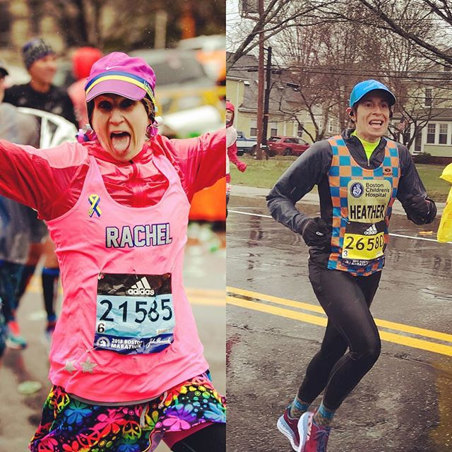 And that's how we get it done. Congratulations to the two toughest Fit Mamas I know! @rachelgevents @hganitsky #bostonmarathon #fitmamasnewton